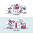 business development and management banner vector image
