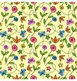 Cartoon seamless pattern with flowers and butterfl vector image vector image