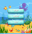 cartoon style buttons design sealife vector image vector image