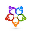 charity people team logo vector image vector image