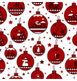 christmas and new year seamless pattern background vector image vector image