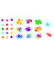color paint splatter spray paint blot element vector image vector image