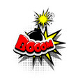 comic book text bubble advertising boom vector image vector image