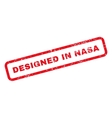 Designed In Nasa Text Rubber Stamp vector image vector image