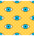Eyes abstract dotted seamless pattern background vector image vector image