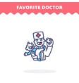 favorite doctor icon flat design ui icon vector image vector image