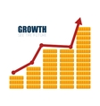 financial business growth money design vector image
