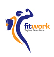 fit work sport media vector image vector image
