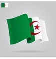flat and waving algeria flag vector image vector image