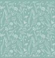 floral seamless pattern line art elements vector image