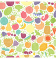 fruits and vegetables seamless pattern vegetarian vector image