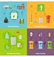 Garbage Recycling Concept Icons Set vector image vector image
