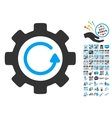 Gear Rotation Direction Icon With 2017 Year Bonus vector image vector image