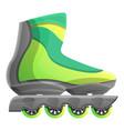 green inline skates icon cartoon style vector image vector image