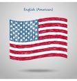 hand drawn united states america flag vector image