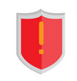heraldry shield with a warning symbol vector image