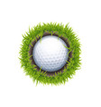 hole one round vector image vector image