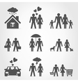 Icons a family6 vector image