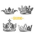 image of heraldic crown vector image vector image