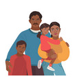 indian smiling family portrait happy mother vector image