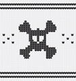 Knitted skull with bones sweater for halloween and vector image vector image