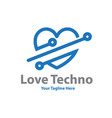 love tech logo designs vector image vector image