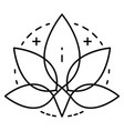 marijuana leaf logo outline style vector image
