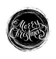 merry christmas lettering on a background vector image vector image