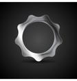 Metal gear Steel cogwheel vector image vector image
