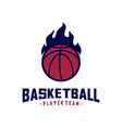 Modern basketball sport logo design template