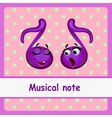 Musical note funny characters vector image vector image