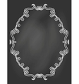 ornamental frame on chalkboard vector image vector image