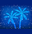 palms and stars night background vector image vector image
