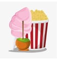 Pop corn fast and carnival food design vector image vector image