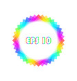 rainbow design element vector image vector image