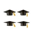realistic mortar board hat education hat vector image vector image
