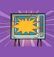 retro tv television and news vector image