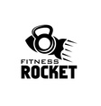 rocket fitness concept vector image vector image