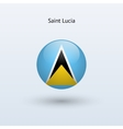Saint Lucia round flag vector image vector image