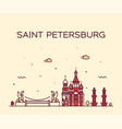 saint petersburg skyline russia linear city vector image vector image