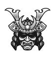 samurai warrior mask traditional armor vector image vector image