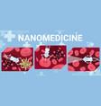 science futuristic nanomedicine vector image