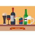 set drink bar flat icon vector image