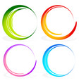 set of sketchy scribble circles vector image