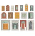 set vintage antique doors - gothic