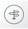 signpost icon line symbol premium quality vector image vector image