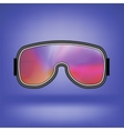 Ski Goggle with Colorful Glasses vector image vector image