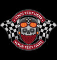 skull club motorcycle logo vector image