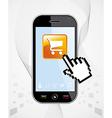 Smartphone buy application vector image vector image