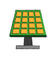 solar panel and plug icon image vector image vector image